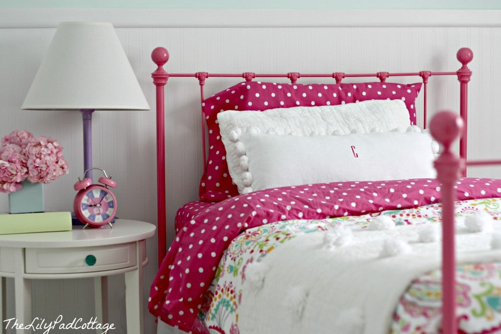 Fancy big girl bedroom bed