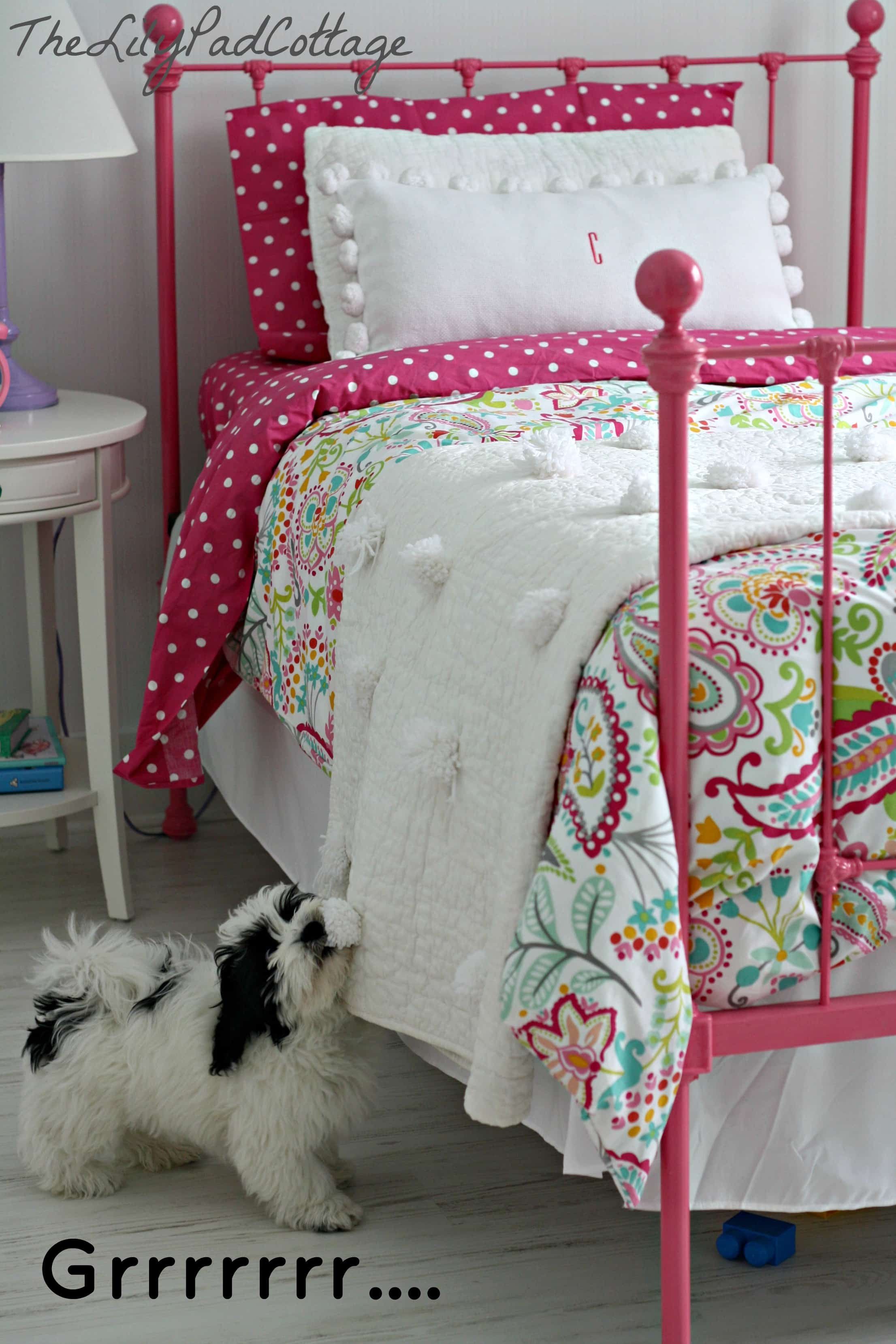 Easy No Sew Pom Pom Quilt - The Lilypad Cottage